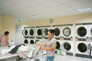 Girl keep washing all cloths